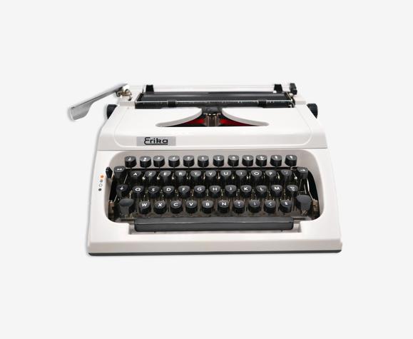 Machine à écrire Erika 150 Blanche collector révisée ruban neuf