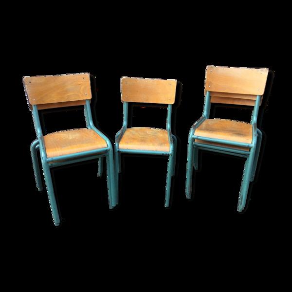 Set de 6 chaises Industrielles Delagrave école administration