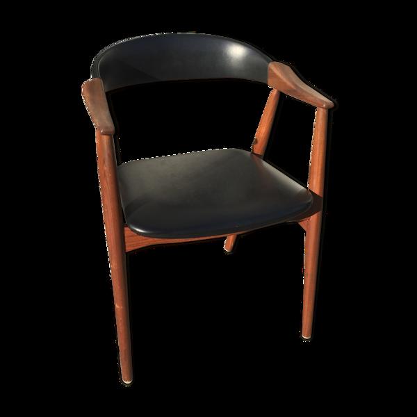 Chaise en teck midcentury danois