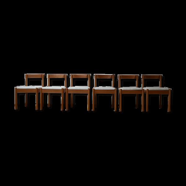 Selency Ensemble de six chaises à manger
