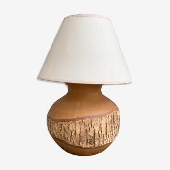 Vintage natural wood bedside lamp
