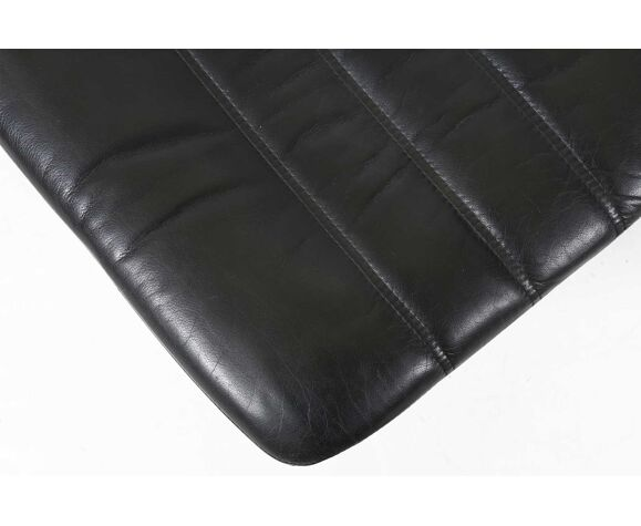 Fauteuil et pouf en cuir danois par Berg Furniture