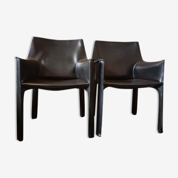 Paire fauteuil CAB 413 Cassina