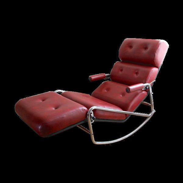 Chaise longue en skaï