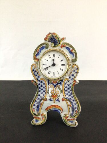 Horloge en faïence de Devres à décor Rouen