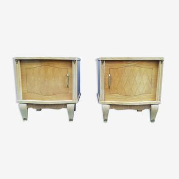 Paire de tables de chevet art déco années 40