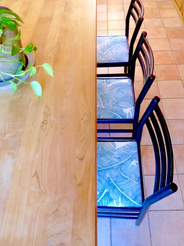 6 chaises à motifs palmiers