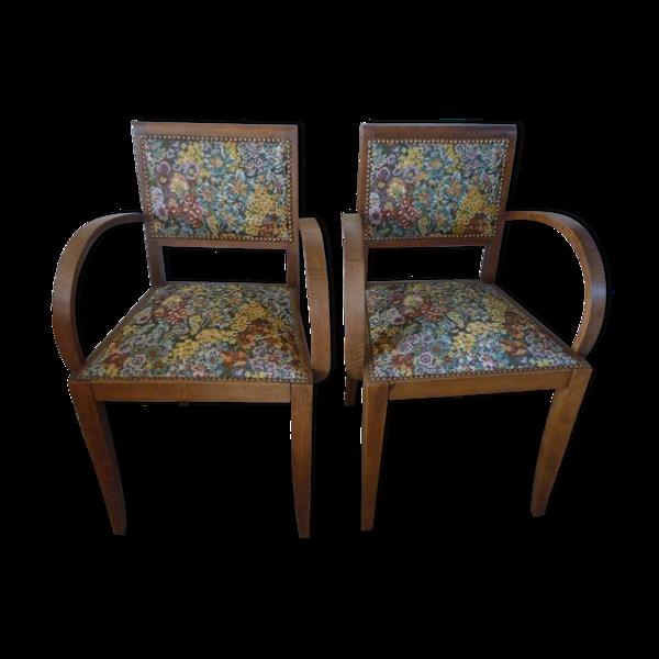 Paire de fauteuil bridge années 1940/1950 art déco