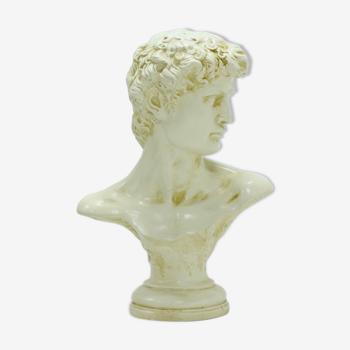 Buste décoratif en plâtre années 80