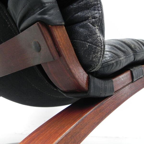 Ensemble de 2 fauteuils design Elsa et Nordhal Solheim édité par Rykken