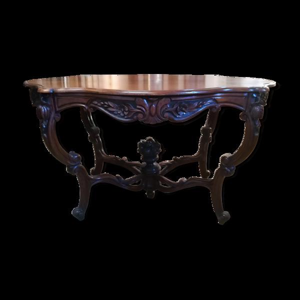 Table de milieu Napoléon III en acajou