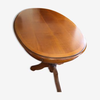 Table de sejour ovale  merisier