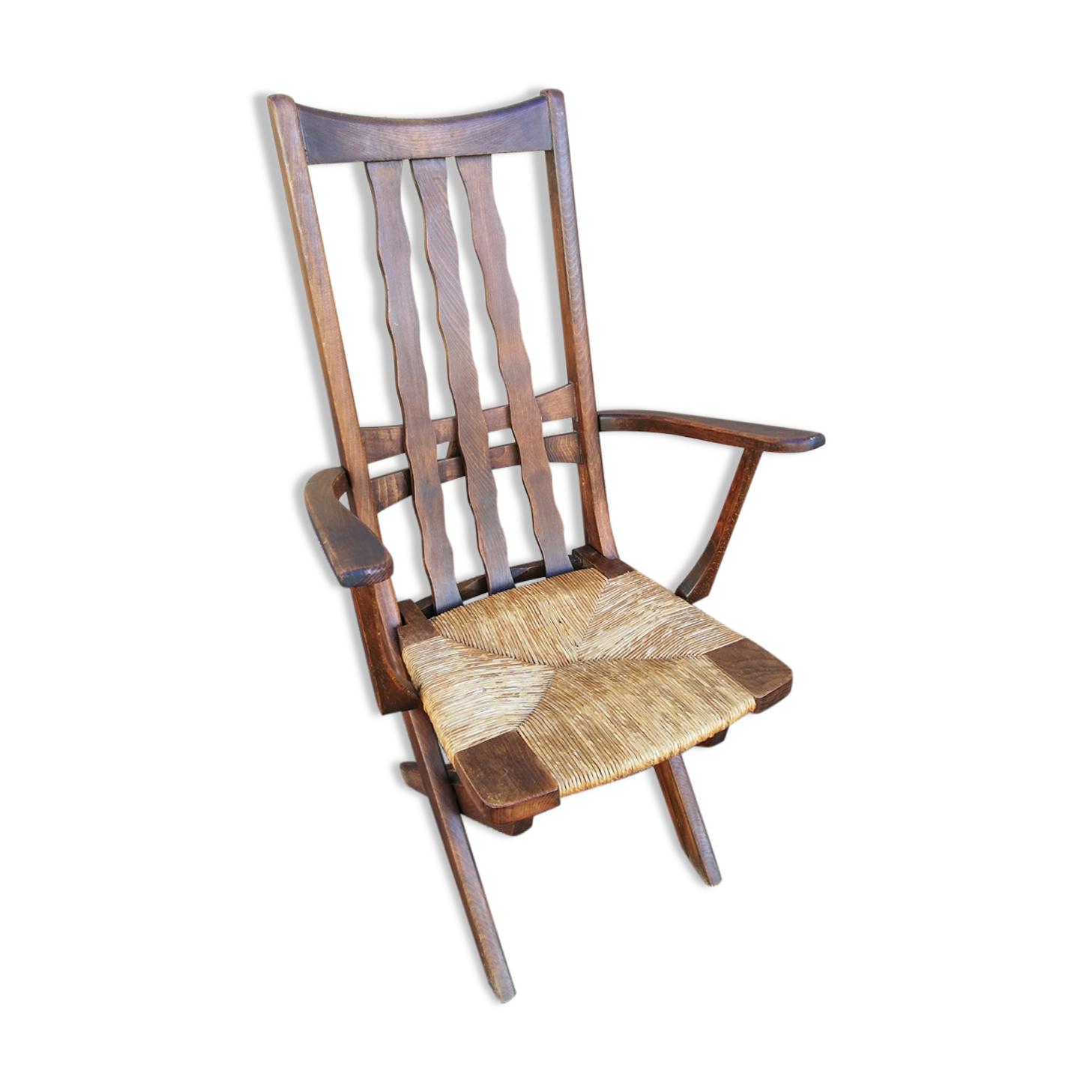Fauteuil vintage assise réglable