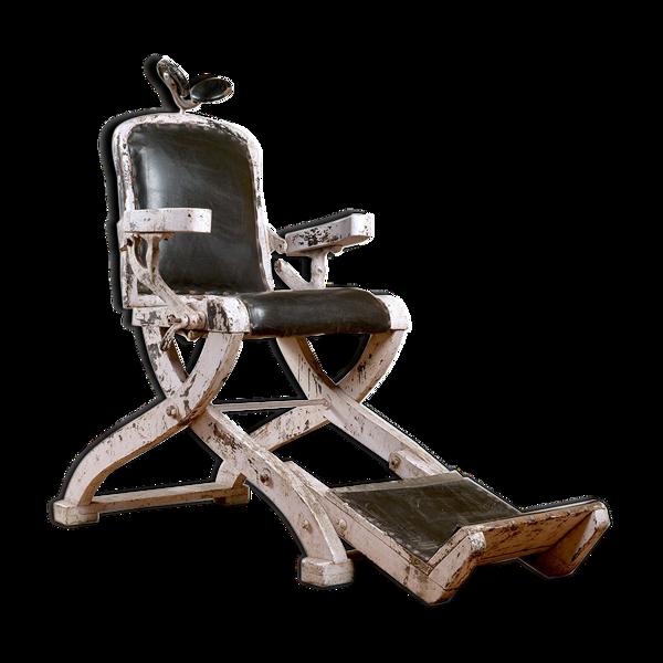 Selency Chaise de barbier en bois