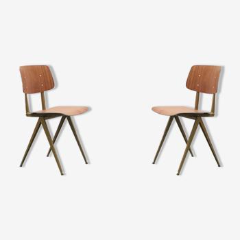 Paire de chaises S16 de Galvanitas - chêne/rose pastel - Réédition