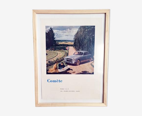 Affiche vintage années 50 -imprimé publicitaire - ford - 30x40cm