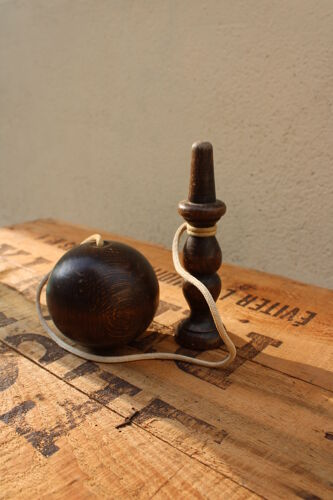 Wooden bilboquet