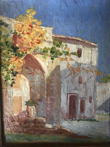 Village de Provence  huile sur carton vers 1930 24x31 cm