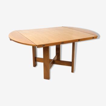 Table modulable en bois et métal par Bob et Dries Van Den Berghe