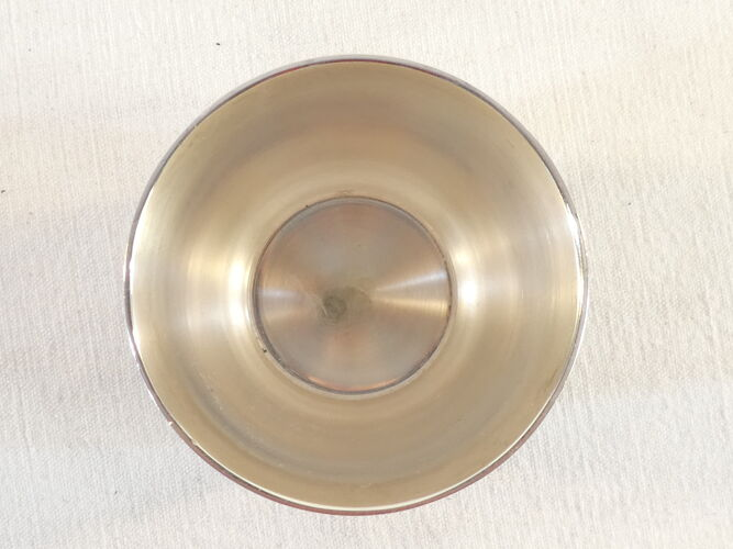 Timbale et rond de serviette gallia en métal argenté parure de bapteme