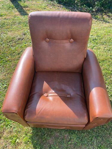 Fauteuil vintage cuir