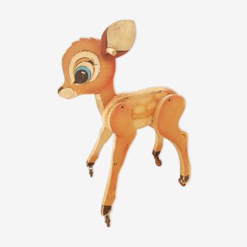 Bambi bois sur roulettes