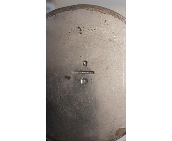 Timbale ancienne plaqué argent avec initiales