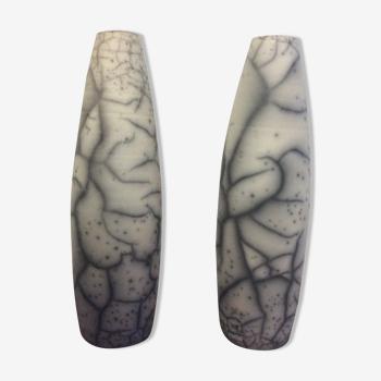 Paire de vases en céramique des années 70/80 estampillés