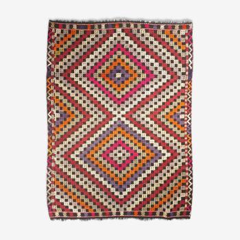 Tapis kilim anatolien fait à la main 193 cm x 145 cm