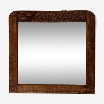 Miroir ancien art déco 38x36cm