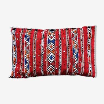 Coussin kilim marocain rouge