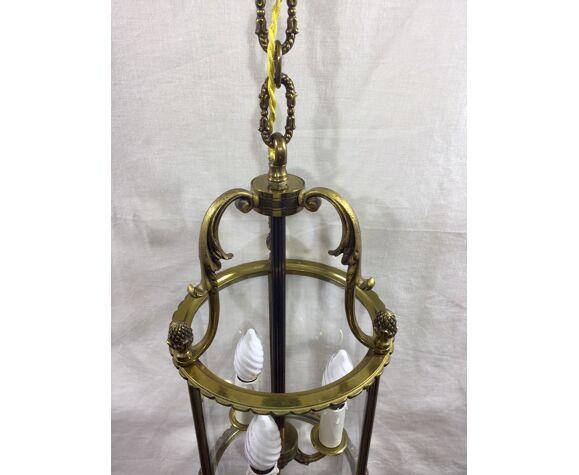 Lanterne en bronze à 3 lumières