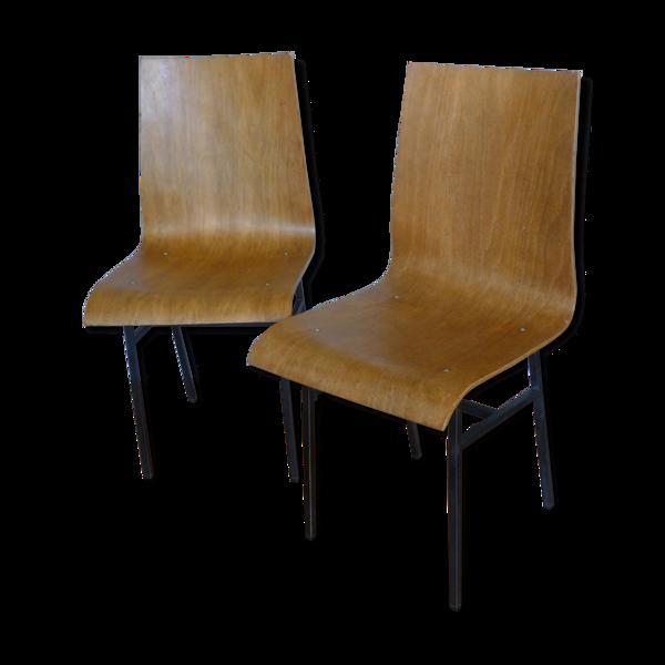 Paire de chaises des années 60