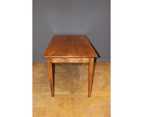Table de bistrot en orme fin XIX