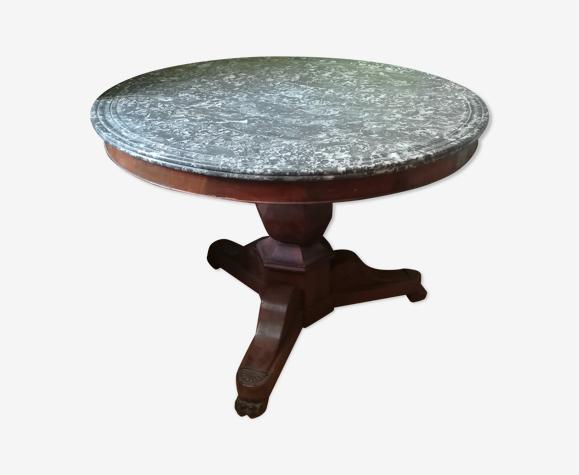 Table guéridon dessus marbre Napoléon III , pied central