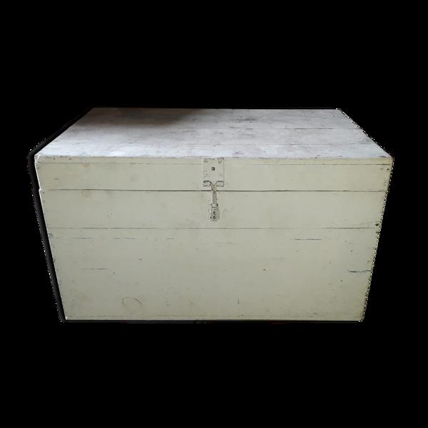 Coffre blanc en bois