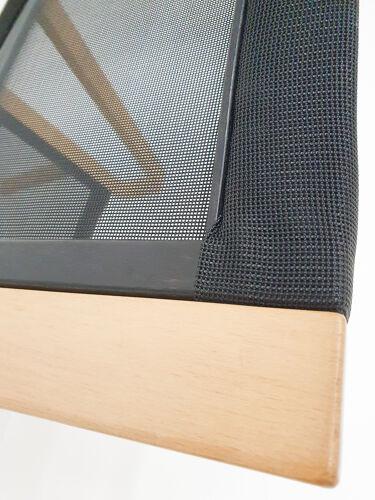 Chaise longue design pour hêtre et gaze lamintés