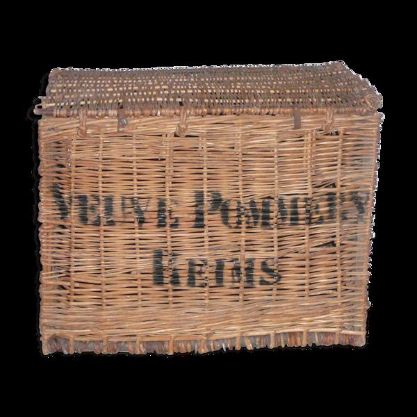 Malle en osier champagne Pommery et Greno 1915
