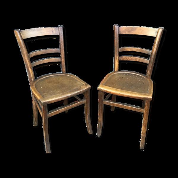 Set de 2 chaises bistrot vintage