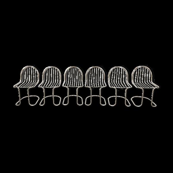 Selency Lot de 6 chaises à manger années 1970