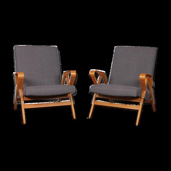 Selency Paire de fauteuils vintage édités par Tatra Nabytok, 1960
