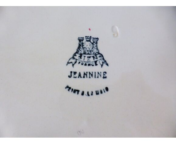 Plat de service oval vintage de la manufacture de Gien modèle Jeannine 210391