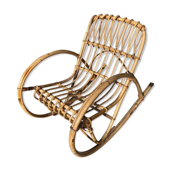 Rocking-chair en bambou enfant