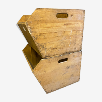 Boîtes de boulanger en bois