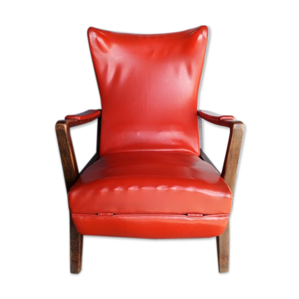 Fauteuil lounge à mécanisme design italien ep 1950
