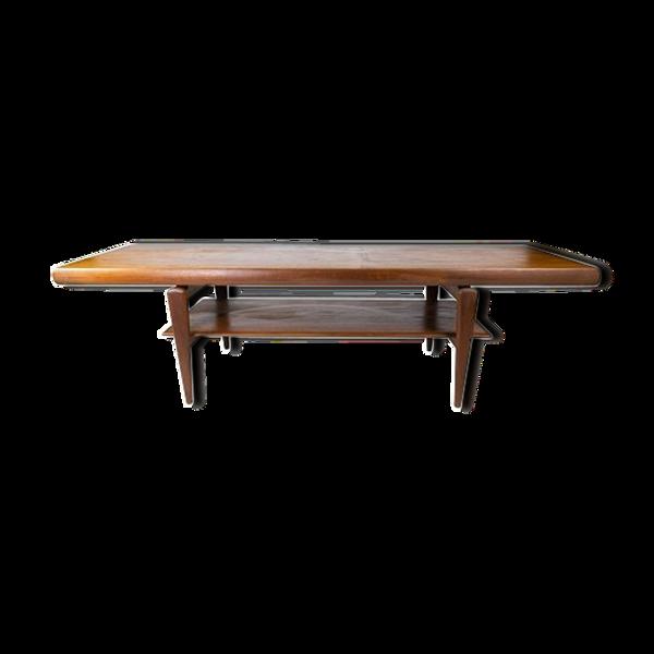Table basse en teck de design danois des années 1960