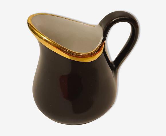 Pot à lait Porcelaine Pillivuyt noir et or