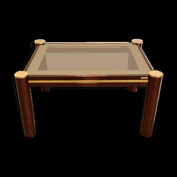 Table de salon fadem bordeaux et or