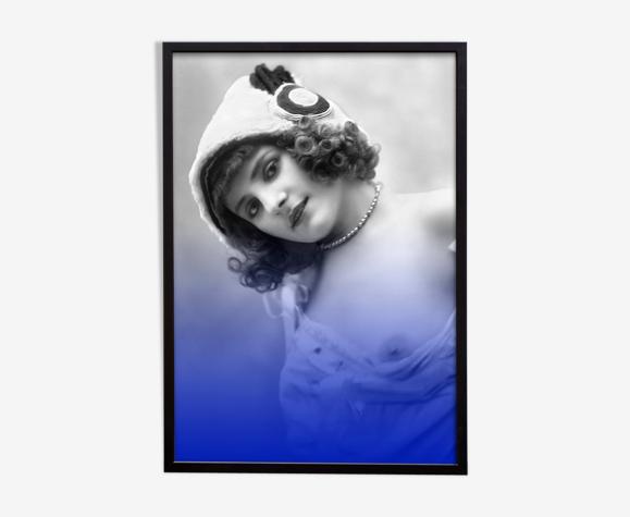 Photographie vintage portrait femme belle époque 1920 - a4