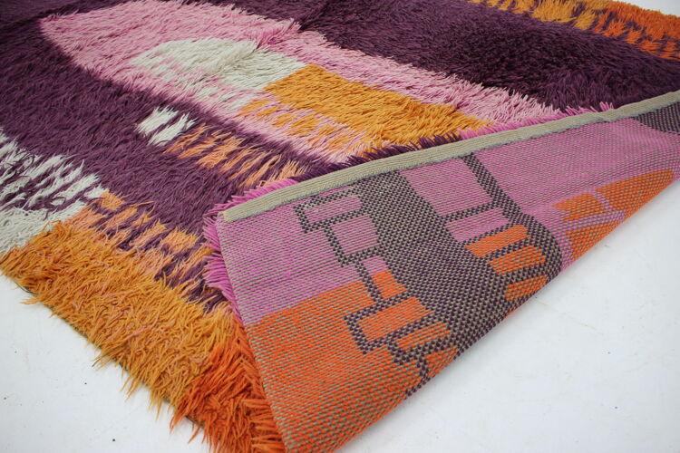 Tapis de laine danois abstrait des années 1970 200x138cm